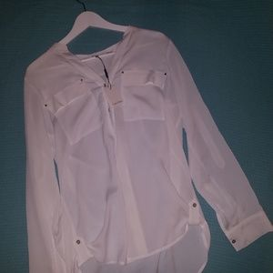 Calvin Klein Brand New White Blouse